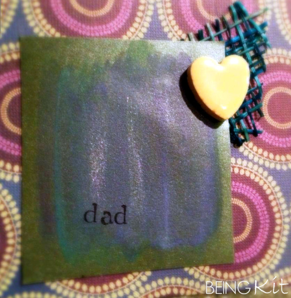 When classic cards don't really work make a mixed media card for dad from BeingKit.com